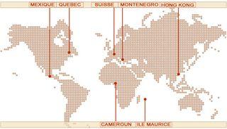 Centres vortex dans le monde